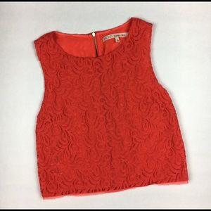 RACHEL Rachel Roy Lace zipper back crop top